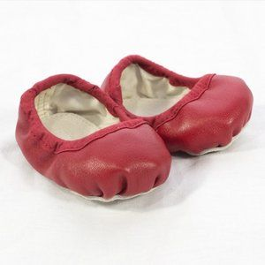 Rachel Zoe For Gymboree Red Leather Ballet Flats